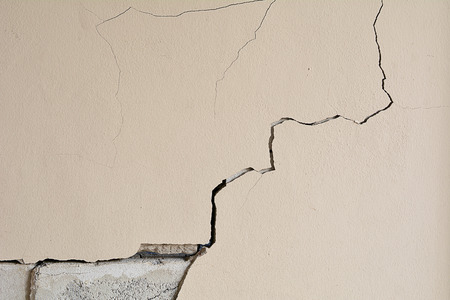 Walls crack house, Cement wall is broken. Background and texture