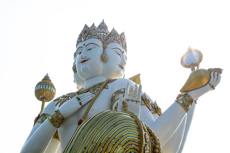 thailand temple: Brahma Statue in Thailand Temple