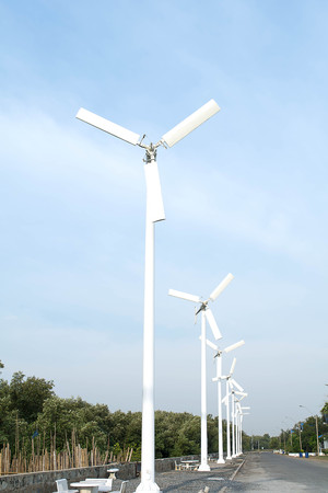 generate: Wind turbine, a turbine having a large vaned wheel rotated by the wind to generate electricity.