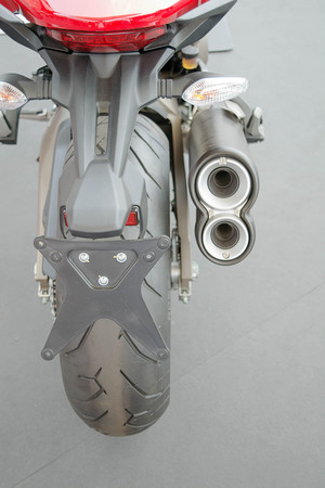 Rear motorcycle Imagens