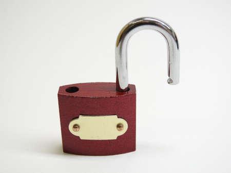 unlocked: Red unlocked Lock