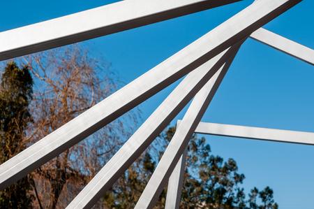 Modern art, metal arcs in the park