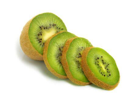 Sliced fresh ripe kiwi isolated on white background Stock Photo - 3332124
