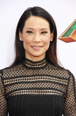 lucy: Lucy Liu at the Los Angeles premiere of Kung Fu Panda 3 held at the TCL Chinese Theater in Hollywood, USA on January 16, 2016. Editorial