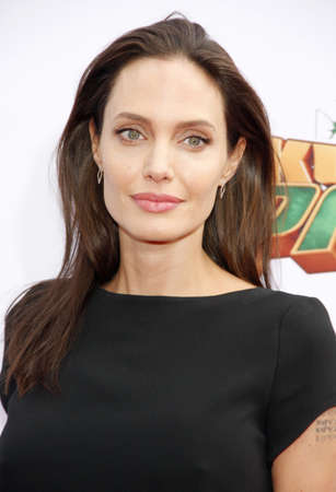 Angelina Jolie at the Los Angeles premiere of Kung Fu Panda 3 held at the TCL Chinese Theater in Hollywood, USA on January 16, 2016. Redakční