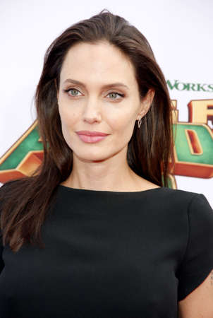 angelina jolie: Angelina Jolie at the Los Angeles premiere of Kung Fu Panda 3 held at the TCL Chinese Theater in Hollywood, USA on January 16, 2016. Editorial