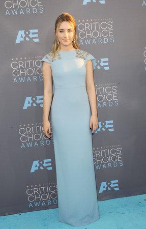 barker: Saoirse Ronan at the 21st Annual Critics Choice Awards held at the Barker Hangar in Santa Monica, USA on January 17, 2016. Editorial