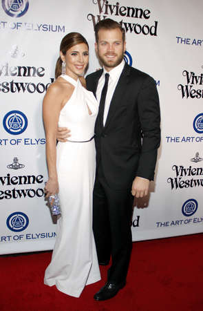 culver city: Cutter Dykstra and Jamie-Lynn Sigler at the Art Of Elysiums 9th Annual Heaven Gala held at the 3LABS in Culver City, USA on January 9, 2016.