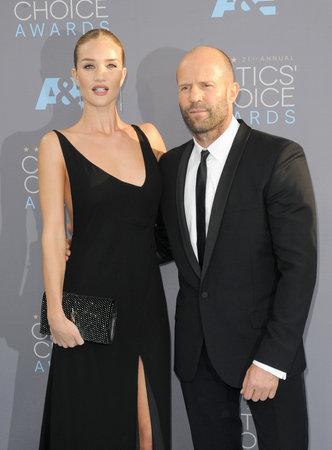 critics: Rosie Huntington-Whiteley and Jason Statham at the 21st Annual Critics Choice Awards held at the Barker Hangar in Santa Monica, USA on January 17, 2016. Editorial