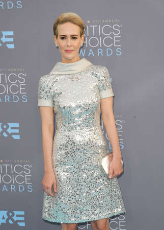 critics: Sarah Paulson at the 21st Annual Critics Choice Awards held at the Barker Hangar in Santa Monica, USA on January 17, 2016. Editorial
