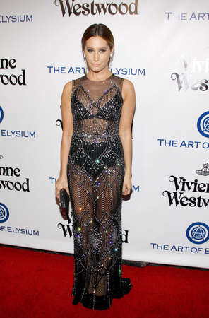 culver city: Ashley Tisdale at the Art Of Elysiums 9th Annual Heaven Gala held at the 3LABS in Culver City, USA on January 9, 2016.