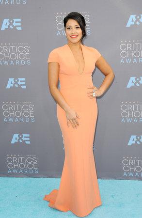 barker: Gina Rodriguez at the 21st Annual Critics Choice Awards held at the Barker Hangar in Santa Monica, USA on January 17, 2016.