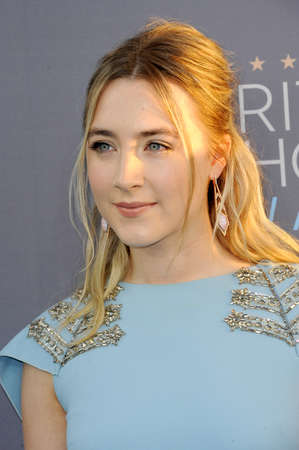 critics: Saoirse Ronan at the 21st Annual Critics Choice Awards held at the Barker Hangar in Santa Monica, USA on January 17, 2016. Editorial