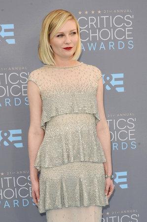 barker: Kirsten Dunst at the 21st Annual Critics Choice Awards held at the Barker Hangar in Santa Monica, USA on January 17, 2016.