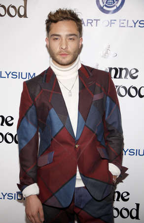 culver city: Ed Westwick at the Art Of Elysiums 9th Annual Heaven Gala held at the 3LABS in Culver City, USA on January 9, 2016.