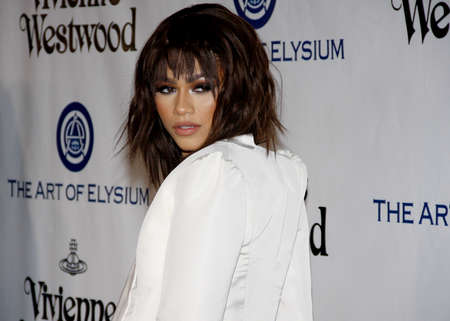 culver city: Zendaya at the Art Of Elysiums 9th Annual Heaven Gala held at the 3LABS in Culver City, USA on January 9, 2016. Editorial