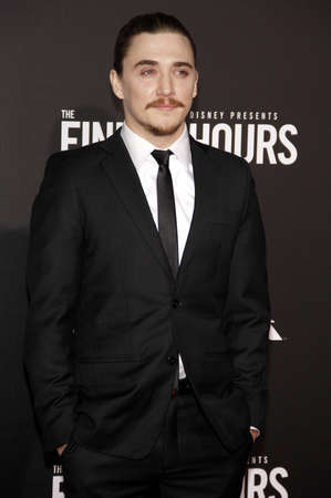 kyle: Kyle Gallner at the World premiere of The Finest Hours held at the TCL Chinese Theatre in Hollywood, USA on January 25, 2016.