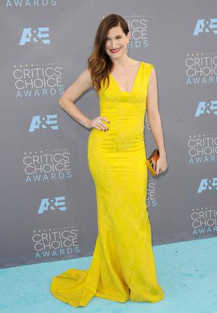 critics: Kathryn Hahn at the 21st Annual Critics Choice Awards held at the Barker Hangar in Santa Monica, USA on January 17, 2016. Editorial