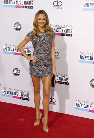 american music: Stacy Keibler at the 40th Anniversary American Music Awards held at the Nokia Theatre L.A. Live in Los Angeles, United States, 181112.