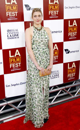 Greta Gerwig at the 2012 Los Angeles Film Festival premiere of To Rome With Love held at the Regal Cinemas L.A. LIVE Stadium in Los Angeles, USA on June 14, 2012.