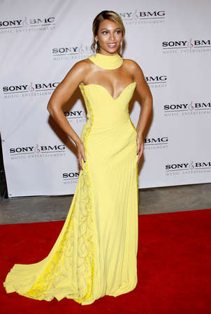 Beyonce Knowles at the 2008 Sony/BMG Grammy After Party held at the Beverly Hills Hotel in Beverly Hills on February 10, 2008. Redactioneel