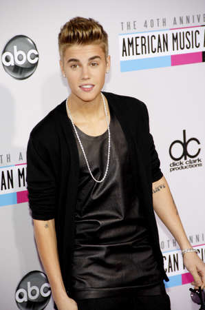 Justin Bieber at the 40th Anniversary American Music Awards held at the Nokia Theatre L.A. Live in Los Angeles, United States, 181112.