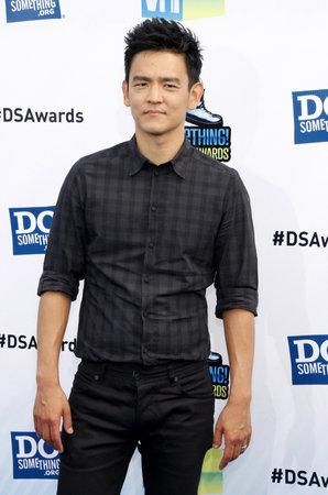 barker: John Cho at the 2012 Do Something Awards held at the Barker Hangar in Santa Monica on August 19, 2012.