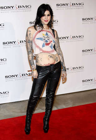 after the party: Kat Von D at the 2008 SonyBMG Grammy After Party held at the Beverly Hills Hotel in Beverly Hills on February 10, 2008.
