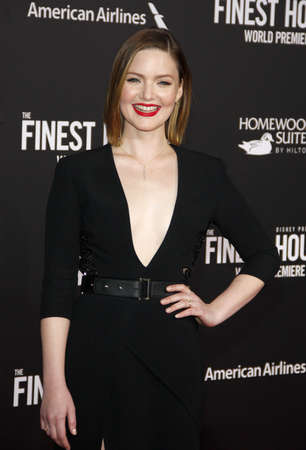 holliday: Holliday Grainger at the World premiere of The Finest Hours held at the TCL Chinese Theatre in Hollywood, USA on January 25, 2016.
