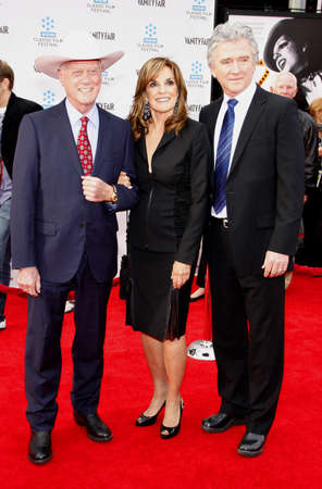 tcm: Larry Hagman, Linda Gray and Patrick Duffy at the 2012 TCM Classic Film Festival Opening Night Gala of Cabaret held at the Graumans Chinese Theater in Los Angeles on April 12, 2012.