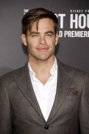 Chris Pine at the World premiere of The Finest Hours held at the TCL Chinese Theatre in Hollywood, USA on January 25, 2016.