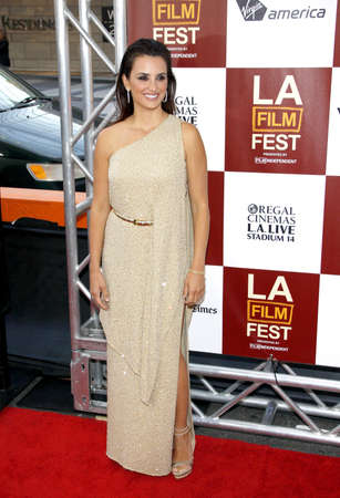 Penelope Cruz at the 2012 Los Angeles Film Festival premiere of To Rome With Love held at the Regal Cinemas L.A. LIVE Stadium in Los Angeles, USA on June 14, 2012.