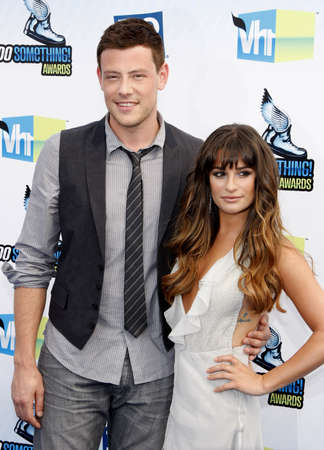 lea: Lea Michele and Cory Monteith at the 2012 Do Something Awards held at the Barker Hangar in Santa Monica on August 19, 2012. Editorial