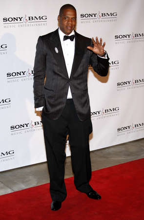 Jay-Z at the 2008 Sony/BMG Grammy After Party held at the Beverly Hills Hotel in Beverly Hills on February 10, 2008. Redactioneel