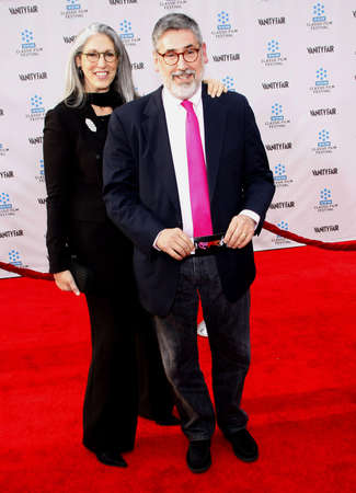 tcm: Deborah Landis and John Landis at the 2012 TCM Classic Film Festival Gala Screening of Cabaret held at the Graumans Chinese Theater in Hollywood on April 12, 2012.