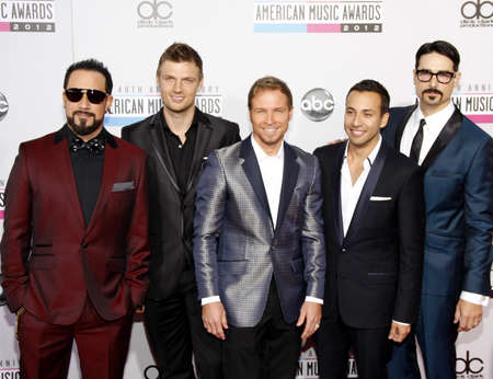 The Backstreet Boys at the 40th Anniversary American Music Awards held at the Nokia Theatre L.A. Live in Los Angeles, United States, 181112. 報道画像
