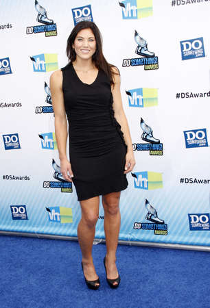 barker: Hope Solo at the 2012 Do Something Awards held at the Barker Hangar in Santa Monica on August 19, 2012.