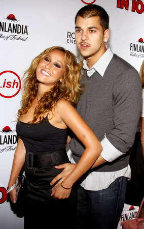 attend: Adrienne Bailon and Robert Kardashian Jr. attend the Summer Stars Party 2008 held at the Social in Hollywood, California, United States on May 22, 2008.