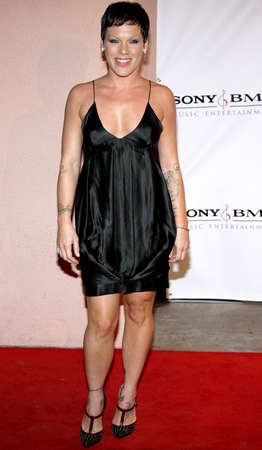 after the party: Pink at the 2008 SonyBMG Grammy After Party held at the Beverly Hills Hotel in Beverly Hills on February 10, 2008.