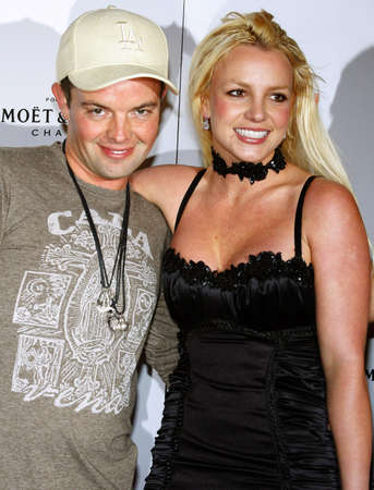 bel air: Claus Hjelmbak and Britney Spears attend the Scandinavian Style Mansion Party held at the Private Residence in Bel Air, California, United States on December 1, 2007.