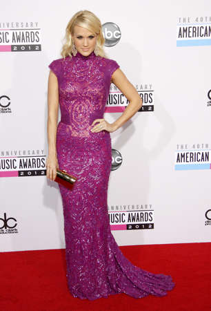 underwood: Carrie Underwood at the 40th Anniversary American Music Awards held at the Nokia Theatre L.A. Live in Los Angeles, United States, 181112.