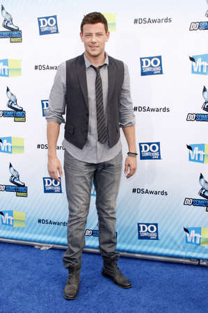 barker: Cory Monteith at the 2012 Do Something Awards held at the Barker Hangar in Santa Monica on August 19, 2012.
