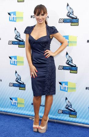 barker: Karina Smirnoff at the 2012 Do Something Awards held at the Barker Hangar in Santa Monica on August 19, 2012.