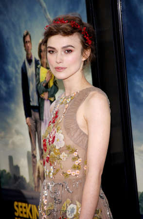 Keira Knightley at the 2012 LA Film Fest Premiere of Seeking A Friend For The End Of The World held at the Regal Cinemas L.A. Live in Los Angeles on June 18, 2012. Editorial