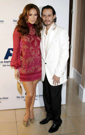 marc: BEVERLY HILLS, CA - NOVEMBER 20, 2006: Jennifer Lopez and Marc Anthony at the 2006 Los Angeles Free Clinic Annual Dinner Gala held at the Beverly Hilton Hotel in Beverly Hills, USA on November 20, 2006.