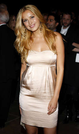 after the party: Petra Newcova at the 2008 SonyBMG Grammy After Party held at the Beverly Hills Hotel in Beverly Hills on February 10, 2008. Editorial
