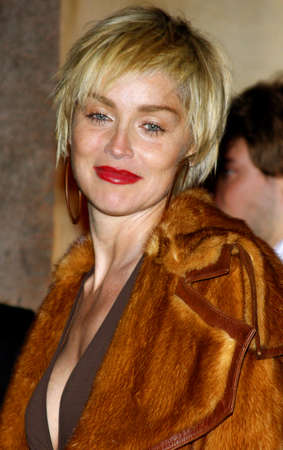 private party: Sharon Stone attends the Scandinavian Style Mansion Party held at the Private Residence in Bel Air, California, United States on December 1, 2007. Editorial