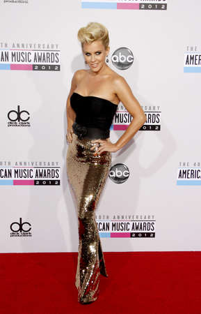american music: Jenny McCarthy at the 40th Anniversary American Music Awards held at the Nokia Theatre L.A. Live in Los Angeles, United States, 181112.