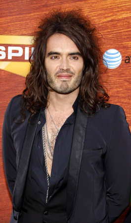 culver city: Russell Brand attends the Spike TV 2nd Annual Guys Choice Awards held at the Sony Pictures Studios in Culver City, California, United States on May 30, 2008.