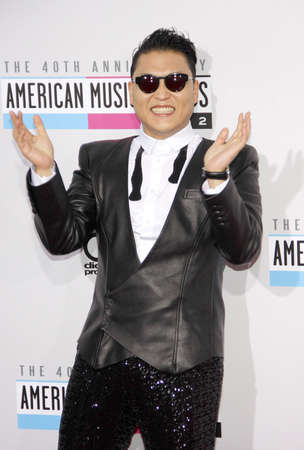 psy: PSY at the 40th Anniversary American Music Awards held at the Nokia Theatre L.A. Live in Los Angeles, United States, 181112. Editorial